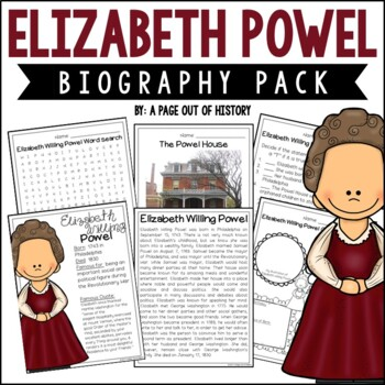 Elizabeth Powel Biography Pack | Distance Learning