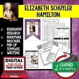 Elizabeth Schuyler Hamilton Biography Research, Bookmark, Pop-Up, Writing