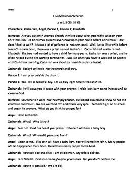 Elizabeth and Zechariah, The Life of John the Baptist