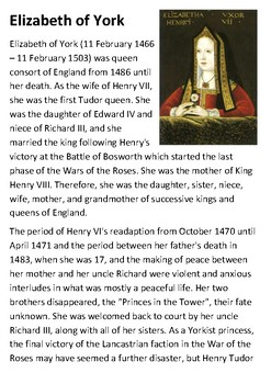 Elizabeth of York Handout
