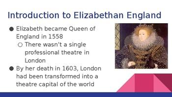 Elizabethan Drama Presentation