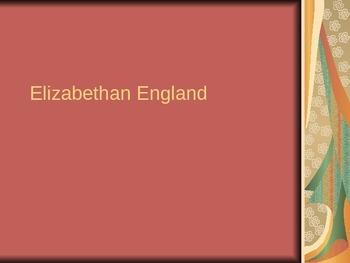 Elizabethan England Introduction