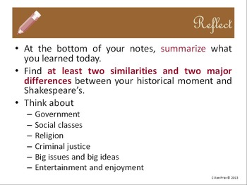 Before you read Shakespeare: Elizabethan England historic analysis - lesson