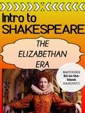 Elizabethan Era - INTRO - Shakespeare's World MATCHING HANDOUT!
