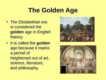Elizabethan Era/Shakespeare Introduction Powerpoint Presentation