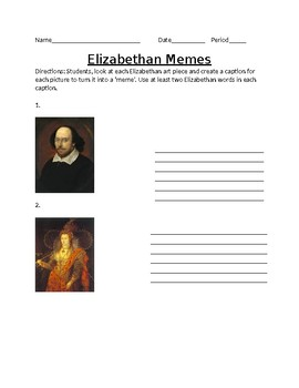 Elizabethan Memes