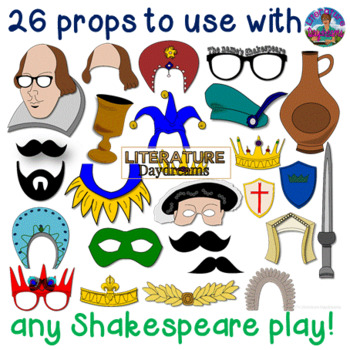 Elizabethan Photo Booth props for any Shakespeare play