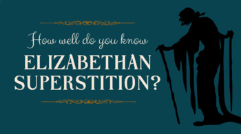 elizabethan witches and superstitions