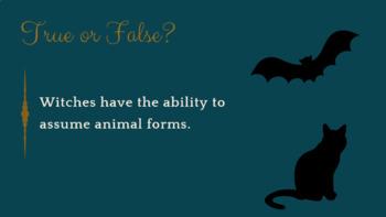 Elizabethan Superstition Quiz - PowerPoint