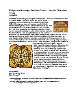 Elizabethan Times Informational Articles