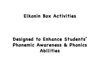 Elkonin Box Activities: Increasing Students' Phonemic & Ph