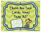 Elkonin Box Task Cards- Vowel Team 'AI'