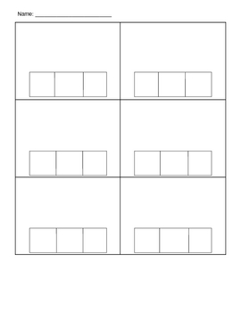 Elkonin Box Template