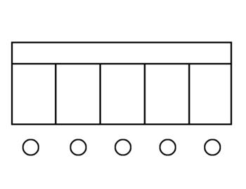 Elkonin Box Workmats- Blank  (2, 3, 4 & 5 boxes)