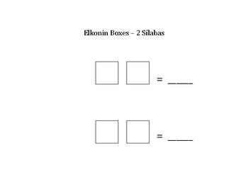 Silabas - 2 Elkonin Boxes