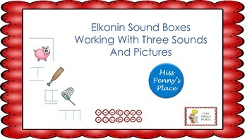 Elkonin Boxes - 3 Sounds with Pictures