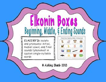 Elkonin Boxes: Beginning, Middle, & Ending Sounds