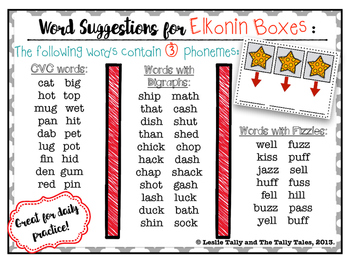 FREEBIE! Elkonin Boxes, How-To Guide, & Words for Building Phonemic Awareness