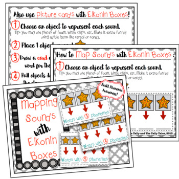 Elkonin Boxes, How-To Guide, Words, & Pictures for Building Phonemic Awareness
