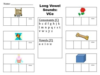 Elkonin Boxes - Long Vowel Sounds VCe