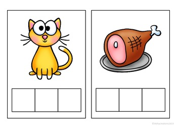 Phonemic Awareness Elkonin Cards for CVC words