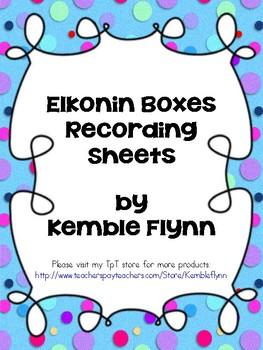 Elkonin Boxes Recording Sheets