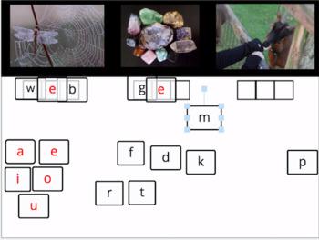 Elkonin Boxes, Short e, Digital Word Making - Phoneme Segmentation in Seesaw