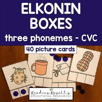Elkonin Boxes: Phoneme Segmentation - Three Phonemes (CVC)