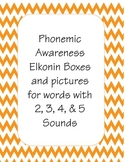 Elkonin Boxes and Pictures for 2,3,4, & 5 sounds