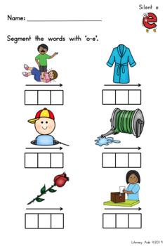 Elkonin Boxes for Phonemic Awareness and Spelling - Silent e Words