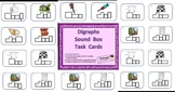 Elkonin Phonics Sound Box Task Cards Digraphs and Ending Blends Combo Pack