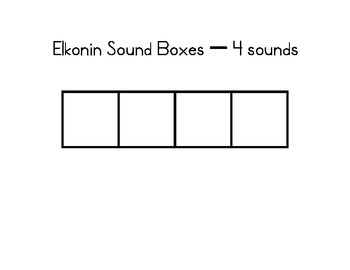 Elkonin Sound Boxes - Phonological Awareness