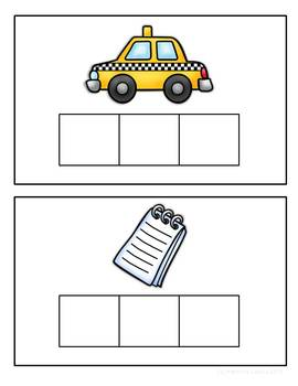 Elkonin boxes with Short a CVC word families CCSS ELA Foundational Skills