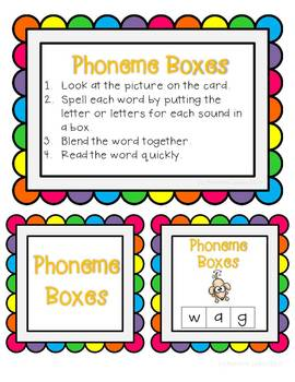 Elkonin boxes with Short e CVC word families CCSS ELA Foundational Skills