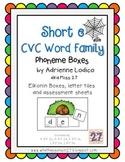 Elkonin boxes with Short e CVC word families CCSS ELA Foun