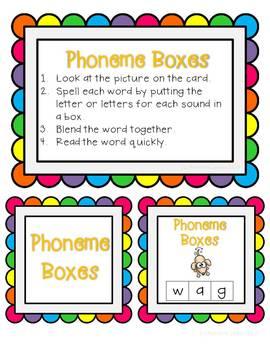 Elkonin boxes with Short o CVC word families CCSS ELA Foundational Skills