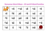 Ell and Ill Word Families