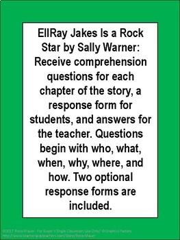 EllRay Jakes is a Rock Star Book Unit