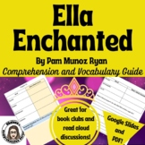 Ella Enchanted Comprehension Questions and Vocabulary Guide