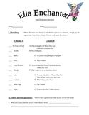 Ella Enchanted Comprehension Test & Answer Key