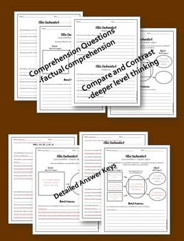 Ella Enchanted Comprehension and Skill Practice (Cause and Effect) w/ Answer Key