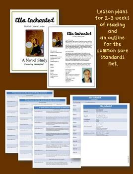 Ella Enchanted Comprehension; Novel Study with Answer Key