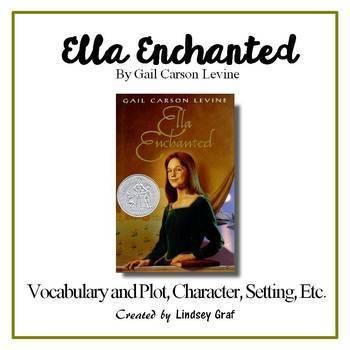 Ella Enchanted Vocab and Plot, Character, Setting w/ Answer Key