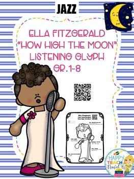 "Ella Fitzgerald ""How High The Moon"" listening glyph"