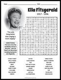 Ella Fitzgerald Word Search Worksheet
