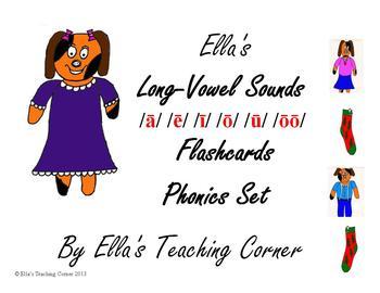 Ella's Long-Vowel Sounds Flashcards Phonics Set