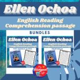Ellen Ochoa English Reading Comprehension Activity Bundle