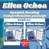 Ellen Ochoa Spanish Reading Comprehension Activity Bundle