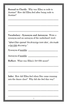 Ellen Tebbits (Beverly Cleary) Novel Study / Reading Comprehension