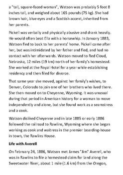 Ellen Watson - Cattle Kate Handout